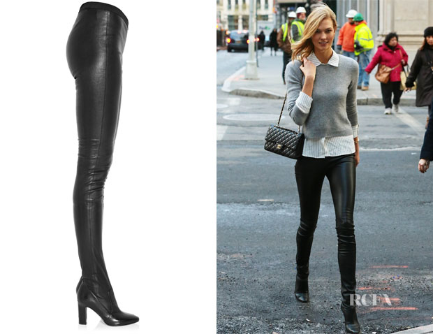 Karlie Kloss' Tamara Mellon Sweet Revenge Leather Legging Boots