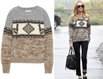 Kate Bosworth's Étoile Isabel Marant Remington intarsia alpaca-blend sweater