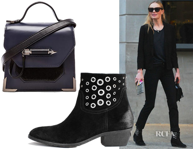 Kate Bosworth's Mackage Rubie Mini Satchel & Zadig et Voltaire Teddy Boots