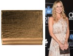 Kate Hudson's Lee Savage Shift Crackled Metal Clutch