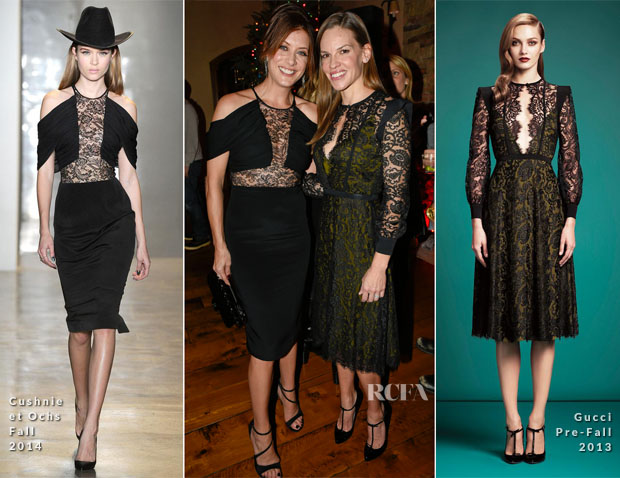 Kate Walsh In Cushnie et Ochs & Hilary Swank In Gucci - Audi Celebrates The Holidays In Aspen And Snow Polo 2014