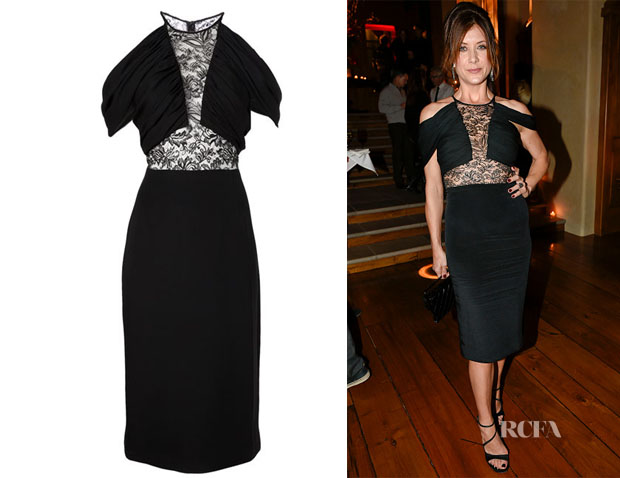 Kate Walsh's Cushnie et Ochs Lace Inset Cocktail Dress