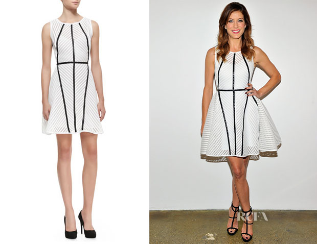 Kate Walsh's Milly Knit Architectural-Seam Dress