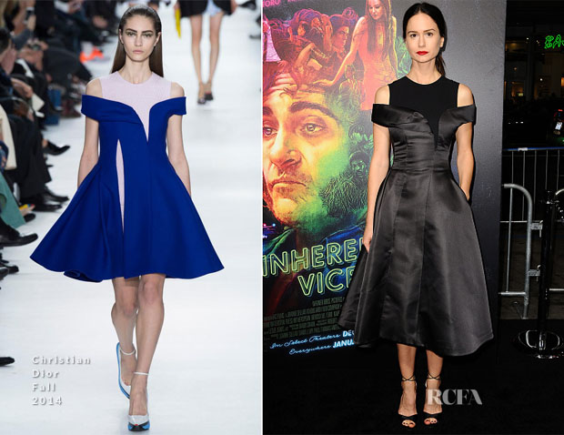 Katherine Waterston In Christian Dior - 'Inherent Vice' LA Premiere