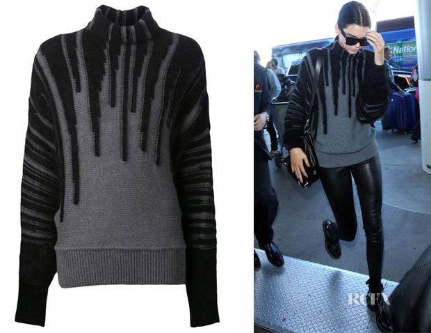 Kendall Jenner's Viktor & Rolf dripping detail sweater