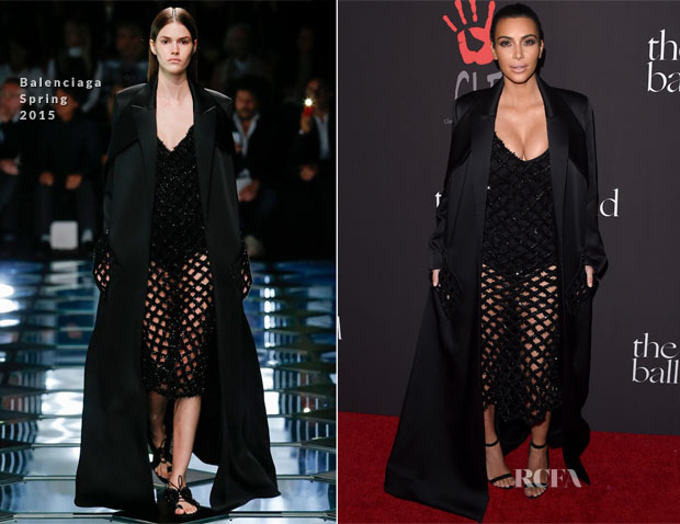 Kim Kardashian In Balenciaga - Inaugural Diamond Ball for the Clara Lionel Foundation