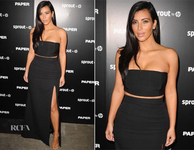 Kim Kardashian In Mugler J Mendel Paper Magazine Break The
