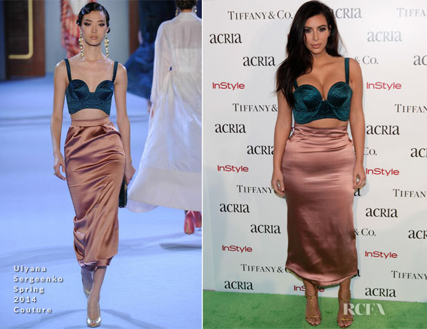 Kim Kardashian In Ulyana Sergeenko Couture - 19th Annual ACRIA Holiday Dinner