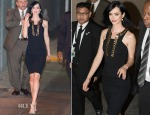 Krysten Ritter In Versace Collection - Jimmy Kimmel Live