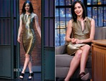 Krysten Ritter In Versace - Late Night with Seth Meyers