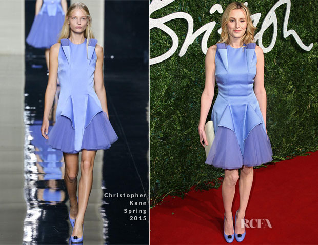 Laura Carmichael In Christopher Kane - 2014 British Fashion Awards