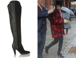 LeAnn Rimes' Chloé Suede and Textured-Leather Over-The-Knee Boots