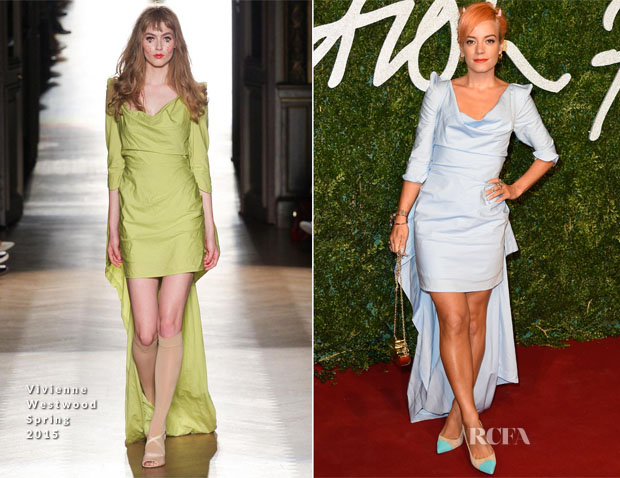 Lily Allen In Vivienne Westwood - 2014 British Fashion Awards