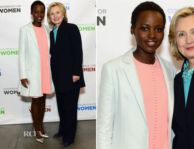 Lupita Nyong'o In Christian Dior - 2014 Massachusetts Conference For Women