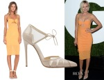 Malin Akerman's Bec & Bridge Sunset Dress & Bionda Castana 'Lana' Pumps