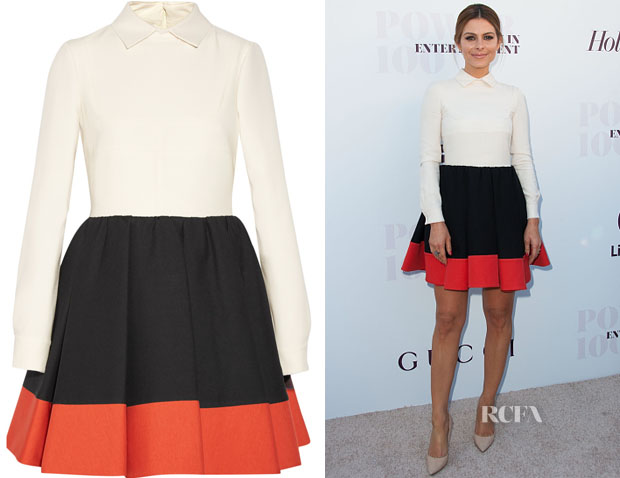 Maria Menounos' Valentino Tri-Colour dress