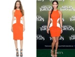 Megan Fox's Cushnie et Ochs Two Tone Cutout Dress