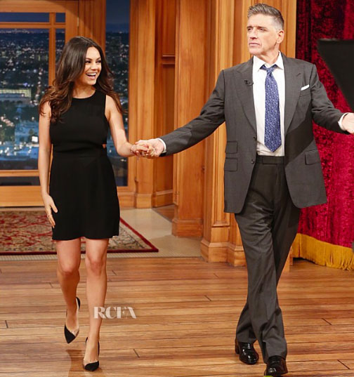 Mila Kunis In ALC - The Late Late Show With Craig Ferguson