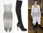 Miranda Kerr's Manning Cartell Pins & Needles Sheath Dress & Christian Louboutin Sempre Monica Boots