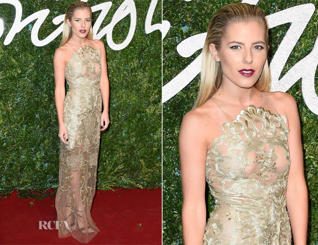 Mollie King In Patricia Bonaldi - 2014 British Fashion Awards