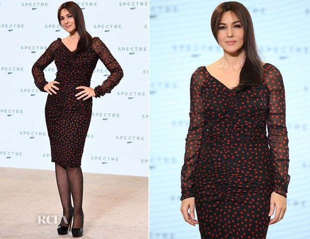 Monica Bellucci In Dolce & Gabbana - Bond 24 'Spectre' Photocall