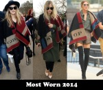 Most Worn 2014 – Burberry Prorsum's Colour-Block Check Blanket Poncho