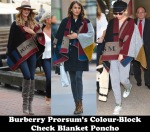 Most Worn 2014 – Burberry Prorsum's Colour Block Check Blanket Poncho2