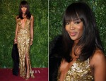 Naomi Campbell In Burberry - 2014 London Evening Standard Theatre Awards