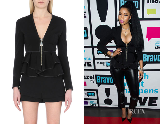 Nicki Minaj's Givenchy Neoprene peplum jacket