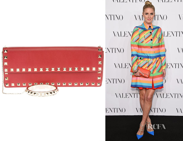 Nicky Hilton's Valentino 'Rockstud' Bangle Clutch
