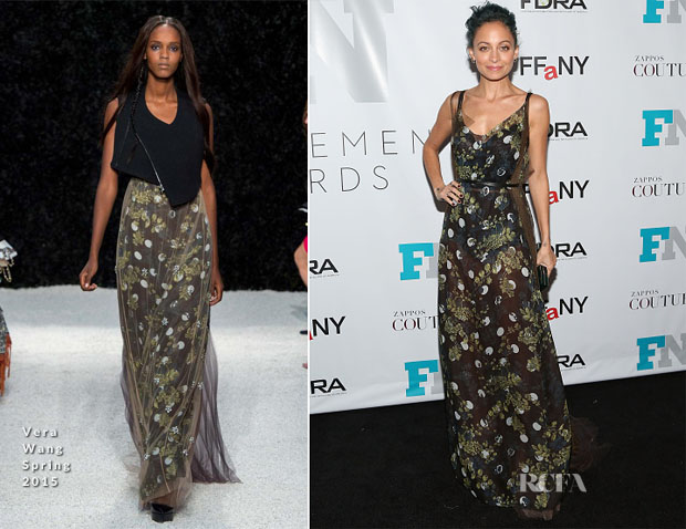 Nicole Richie In Vera Wang - 2014 Fashion Footwear Association Of New York Awards