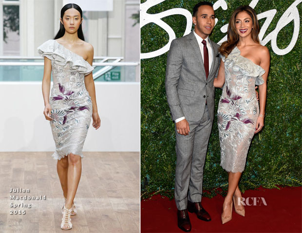 Nicole Scherzinger In Julien Macdonald - 2014 British Fashion Awards