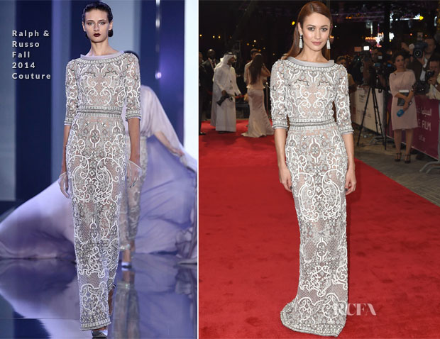 Olga Kurylenko In Ralph & Russo Couture - 11th Annual Dubai International Film Festival Opening Night Gala