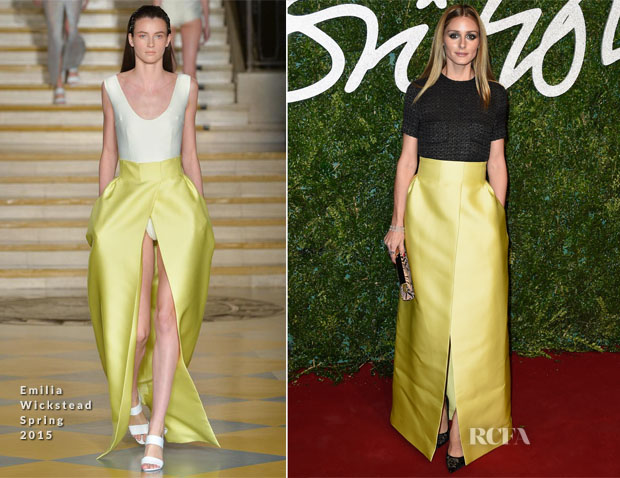 Olivia Palermo In Emilia Wickstead - 2014 British Fashion Awards