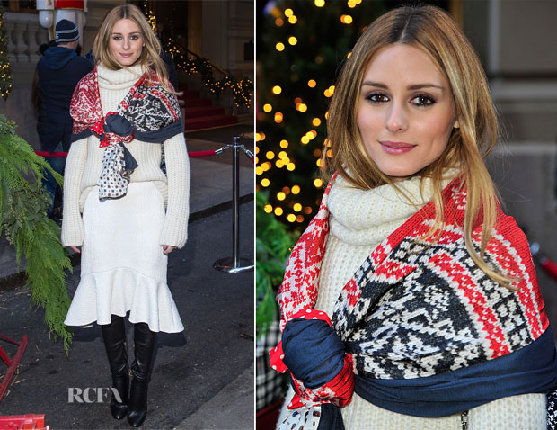 Olivia Palermo In Gerard Darel & Tibi - Nacho Figueras And St. Regis Hotels & Resorts Celebrate The Holiday Season