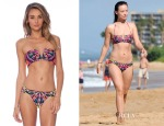 Olivia Wilde's Mara Hoffman V Wire Bikini Top & Ruched Bottom
