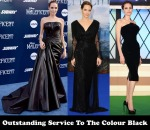Outstanding Service To The Colour Black - Angelina Jolie