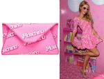 Paris Hilton's Moschino Logomania Clutch