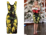 Reese Witherspoon's Dolce & Gabbana Mimosa-Print Cady Dress