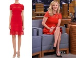 Reese Witherspoon's Valentino Lace-Inset Doubleknit Dress