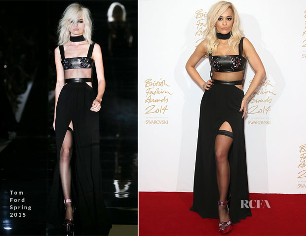 Rita Ora In Tom Ford - 2014 British Fashion Awards