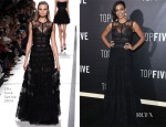 Rosario Dawson In Elie Saab - 'Top Five' New York Premiere
