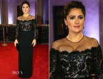 Salma Hayek In Gucci Première - 'The Prophet' Ajyal Youth Film Festival Screening
