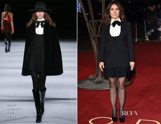 Salma Hayek In Saint Laurent - 'Exodus Gods and Kings' World Premiere