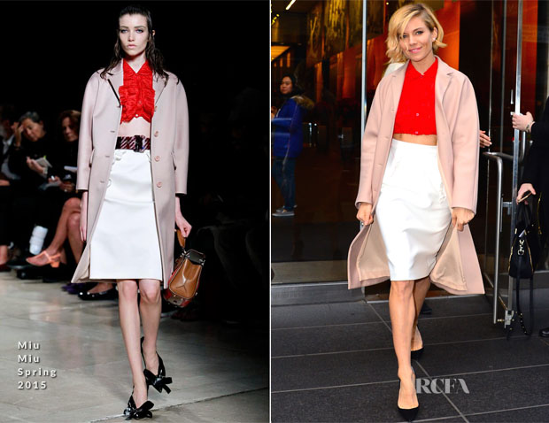Sienna Miller In Miu Miu - 'American Sniper' Press Conference