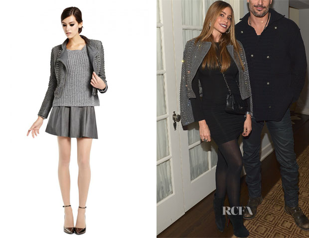 Sofia Vergara's Alice + Olivia Jade Embellished Leather Jacket