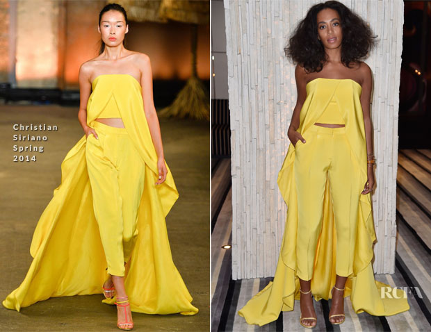 Solange Knowles In Christian Siriano - IWC Schaffhausen Celebrates 'Timeless Portofino' Gala Event