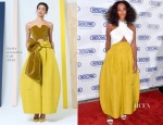 Solange Knowles In Milly & Rosie Assoulin - Rimowa Store Miami Opening