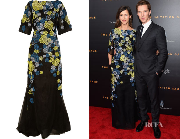 Sophie Hunter's Erdem Carsani Embroidered Silk-Organza Gown