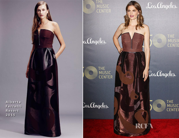 Stana Katic In Alberta Ferretti - The Music Center's 50th Anniversary Spectacular